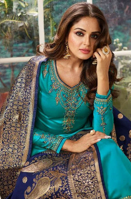 Zisa Presents Vol 6 Georgette With Heavy Embroidery with Banarsi Designer Partywear Suits 11184