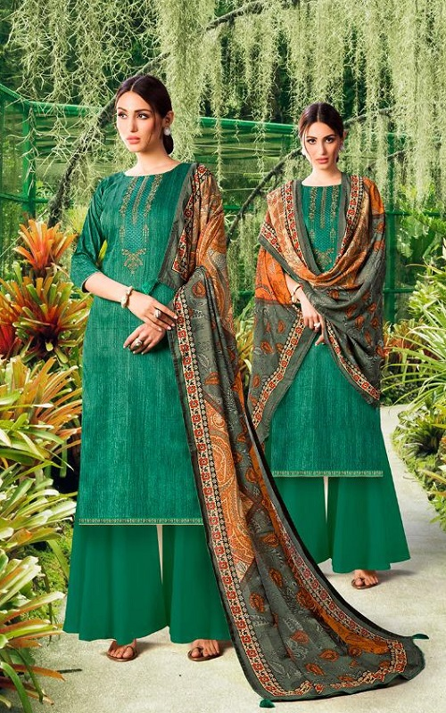 Adinath Prints Presents Sehar Jam Cotton Negative Print With Embroidery Salwar Suit 1005