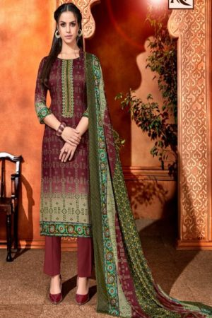 Alok Bandhej 2 Pure Jam Cotton Digital Style Bandhni Print With Elegant Thread Embroidery Salwar Suit 377-003
