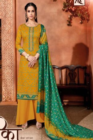 Alok Bandhej 2 Pure Jam Cotton Digital Style Bandhni Print With Elegant Thread Embroidery Salwar Suit 377-007