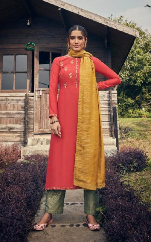 Angroop Plus Nazia Pure Jam Silk Cotton With Heavy Self Embroidery Salwar Suit FN-303