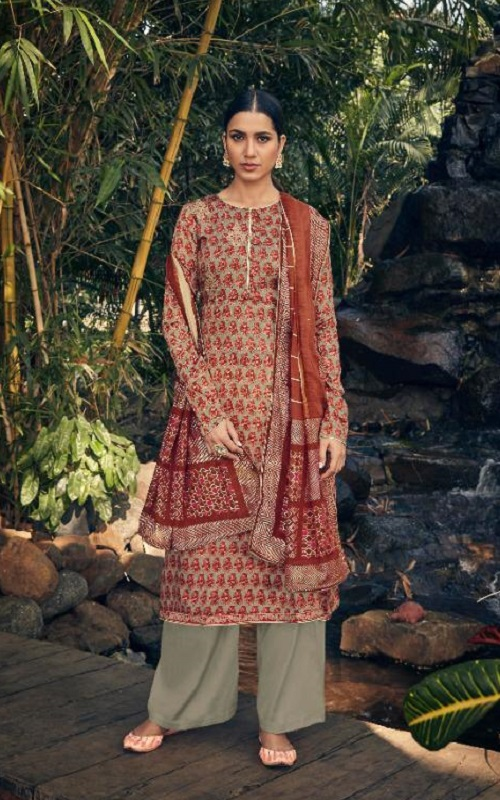 Angroop Plus Presents Annabel Pure Jam Silk Cotton Print With Embroidery Salwar Suit SN 027