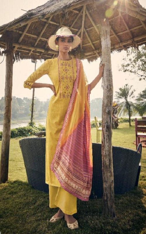 Angroop Plus Presents Annabel Pure Jam Silk Cotton Print With Embroidery Salwar Suit SN 028