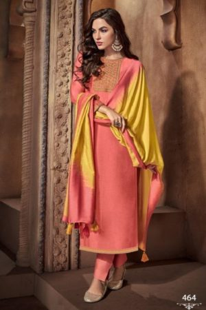 Buy Ibiza Urjita Pure Muslin With Fancy Embrodery And Handwork Salwar Suit 464