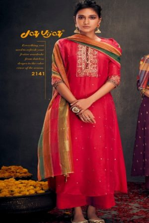 Buy Jayvijay Aloha 2 Pure Bemberg Silk With Handwork Salwar Suit 2141