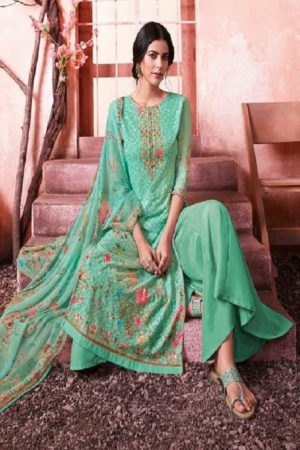 Buy Zubeda Maher Schiffy Georgette With Embroidery Work Salwar Suit 103