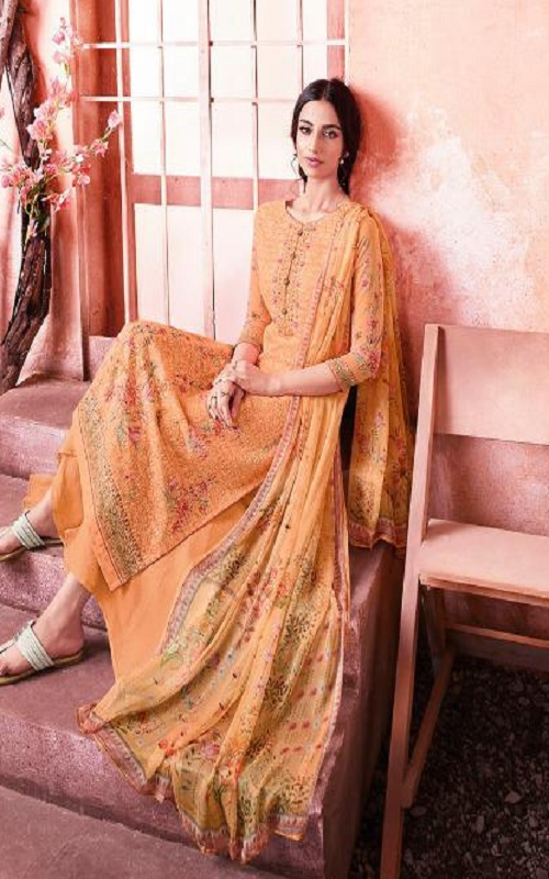 Buy Zubeda Maher Schiffy Georgette With Embroidery Work Salwar Suit 104