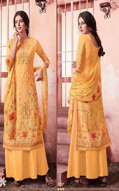 Buy Zubeda Maher Schiffy Georgette With Embroidery Work Salwar Suit 107