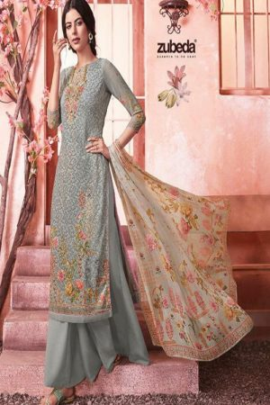 Buy Zubeda Maher Schiffy Georgette With Embroidery Work Salwar Suits 105