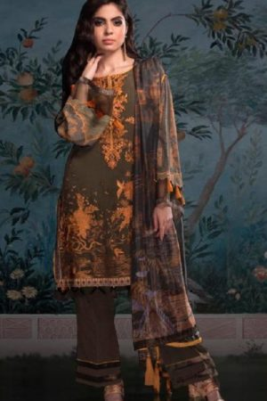 Deepsy Suit Elan 9 Satin Silk Digital Print With Embroidery Salwar suit 403
