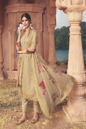 Ekta Fashion Khwaish Georgette With Embroidery And Saroski Salwar Suit 3104