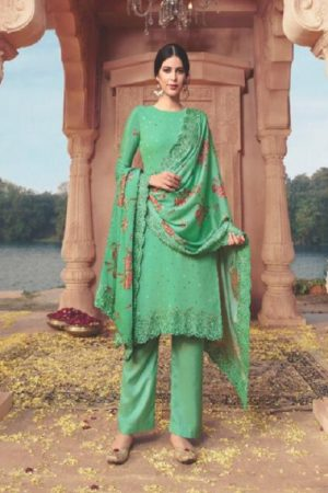 Ekta Fashion Khwaish Georgette With Embroidery And Saroski Salwar Suit 3105