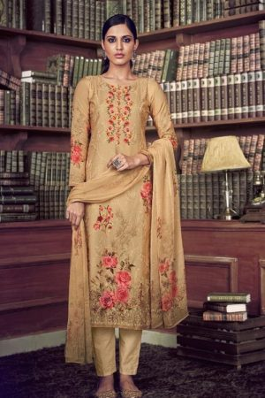Ibiza Elise 2 Pure Muslin Digital Print With Fancy Embroidery And Sequence Salwar Suit 492