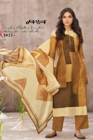 Jayvijay Amorous Florel Pure Bemberg Moga Silk Digital Print With Handwork Salwar Suit 5022
