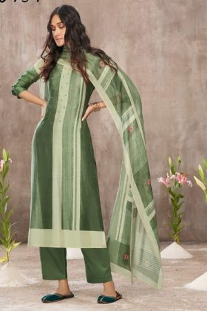Jayvijay Amorous Florel Pure Bemberg Moga Silk Digital Print With Handwork Salwar Suit 5024