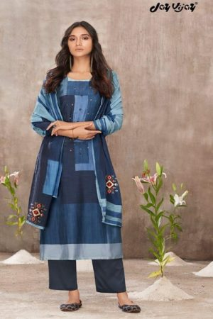 Jayvijay Amorous Florel Pure Bemberg Moga Silk Digital Print With Handwork Salwar Suit 5030