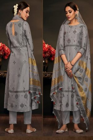 Jayvijay Aylin 2 Pure Bemberg Cotton Silk Print With Handwork Salwar suit 5042