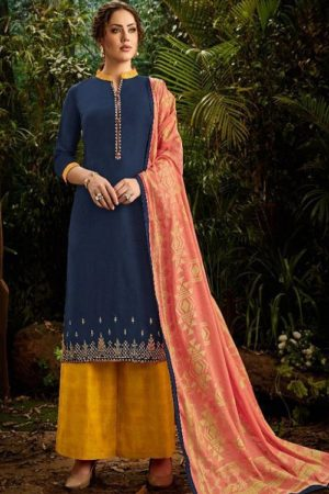 Karva Designer Studio Insta Maslin With Heavy Embroidery Salwar Suits 24001