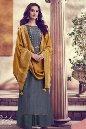 Karva Designer Studio Presents Amber Soft Silk Embroidered Salwar Suits 22002