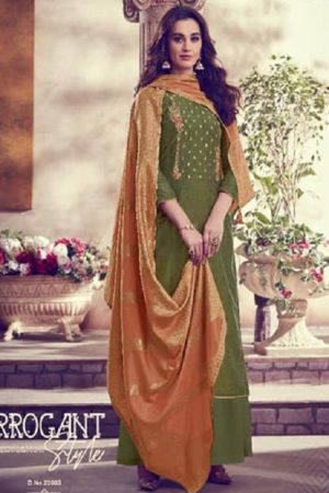 Karva Designer Studio Presents Amber Soft Silk Embroidered Salwar Suits 22003