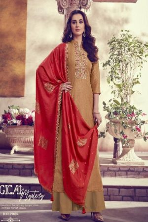 Karva Designer Studio Presents Amber Solf Silk Embroidered Salwar Suit 22005