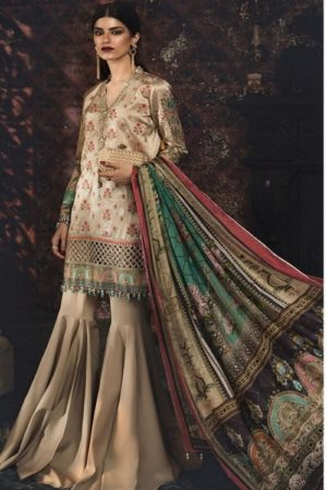Maria B Exclusive Premum Lawn Pakistani Master Replica Collection Salwar Suit D-1