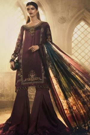 Maria B Exclusive Premum Lawn Pakistani Master Replica Collection Salwar Suit D-3
