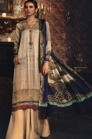 Maria B Exclusive Premum Lawn Pakistani Master Replica Collection Salwar Suit D-5