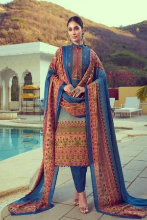 Mumtaz Arts Navika Pure Lawn Cotton Print With Barik Exclusive Embroidery Salwar Suit 2008