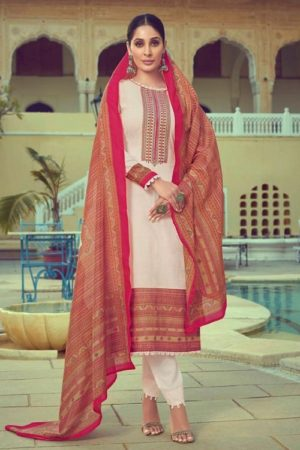 Mumtaz Arts Navika Pure Lawn Cotton Print With Barik Exclusive Embroidery Salwar Suit 2009