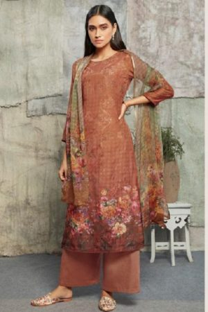 Omtex Chloe Asfa Silk Digital Print Self Embroidery With Handwork Salwar suit 1043