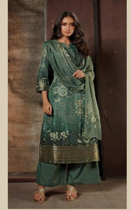 Omtex Reha Banarsi Jaquard Digital Print With Hand Work Salwar Suit 1023