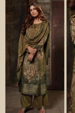 Omtex Reha Banarsi Jaquard Digital Print With Hand Work Salwar Suit 1026