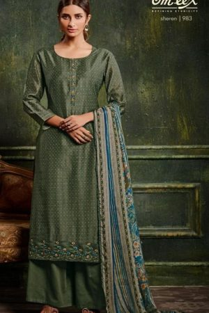 Omtex Sheren Pure Berry Silk With Embroidery Salwar Suit 983