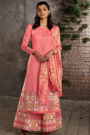 PRM Trendz Presents Naomi Pure Jam Silk Printed Ladies Ethnic Summer Collection Suit 3335