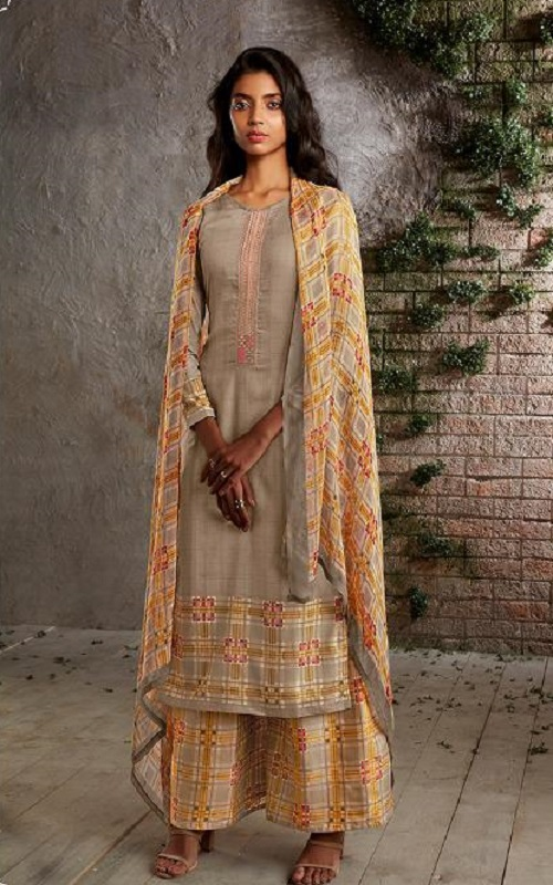 PRM Trendz Presents Naomi Pure Jam Silk Printed Ladies Ethnic Summer Collection Suits 3332