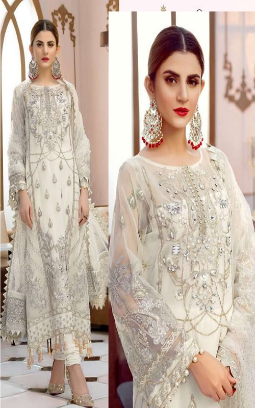 Rinaz Fashion Presents Gulal 3 Faux Georgette With Embroidery Work Salwar Suit 1503