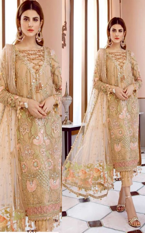 Rinaz Fashion Presents Gulal 3 Faux Georgette With Embroidery Work Salwar Suit 1504