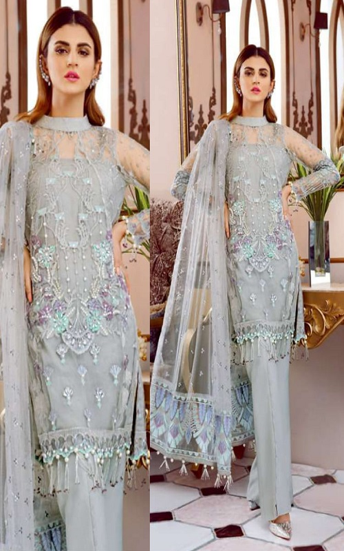 Rinaz Fashion Presents Gulal 3 Faux Georgette With Embroidery Work Salwar Suit 1506