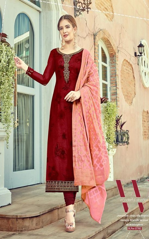 Rsf Rolex 7 Georgette Long Suit With Hand Work Salwar Suit 13702