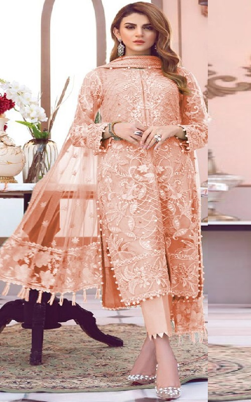 Shanaya Fashion Presents Castel Heavy Butterfly Net With Embroidery Work Suit S-17 A