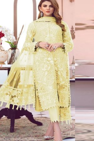 Shanaya Fashion Presents Castel Heavy Butterfly Net With Embroidery Work Suit S-17 C