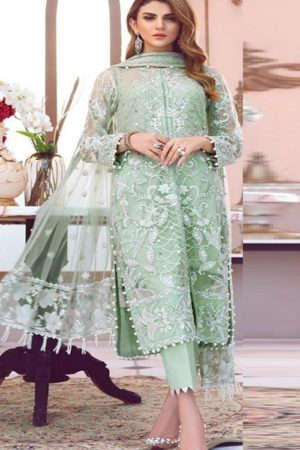 Shanaya Fashion Presents Castel Heavy Butterfly Net With Embroidery Work Suits S-17
