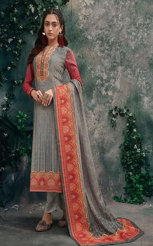 T&m Sahiba Cotton Satin Digital Print With Work Salwar suit 924