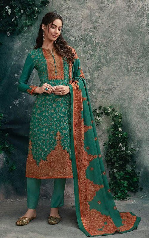 T&m Sahiba Cotton Satin Digital Print With Work Salwar suit 982