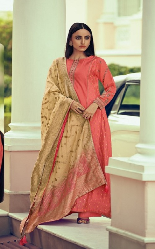 Varsha Fashions Diva Fancy Fabric With Enbroidered Sleeve And Inner Salwar suit dv-11