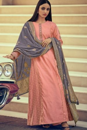 Varsha Fashions Diva Fancy Fabric With Enbroidered Sleeve And Inner Salwar suit dv-15