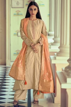 Varsha Fashions Diva Fancy Fabric With Enbroidered Sleeve And Inner Salwar suit dv-17