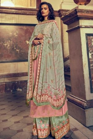 Varsha Fashions The Signature Collection Pure Tussar Silk With Cording Work Salwar suit sc-21