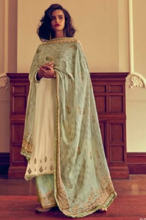 Varsha Fashions The Signature Collection Pure Tussar Silk With Cording Work Salwar suit sc-23